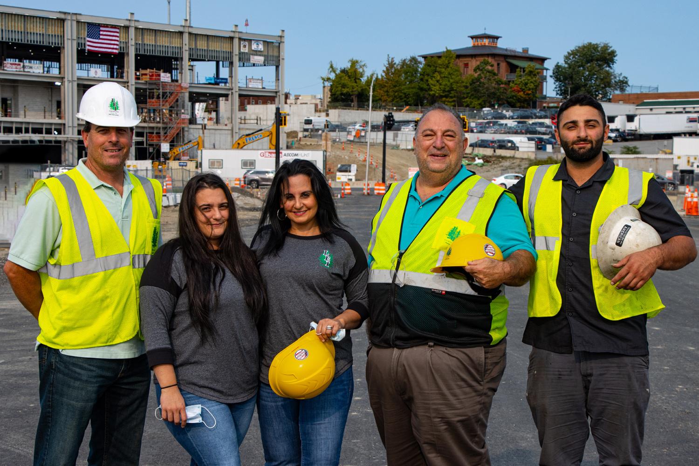 LEI team at a work site doing a walkthrough